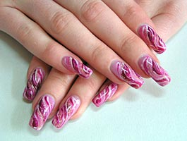 Отросшие нарощенные ногти