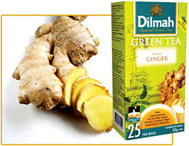Dilmah. Green Tea. Ginger
