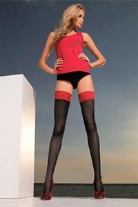 Черное белье красные чулки фото 533-886