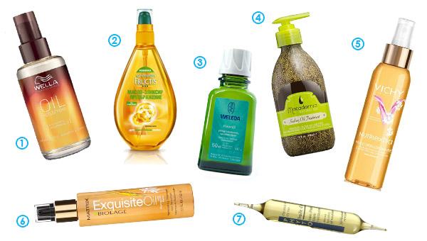 Увлажняющие масла для волос