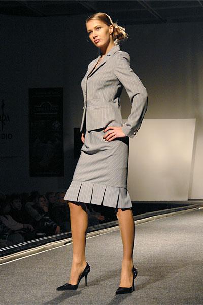 Женский деловой костюм больших размеров