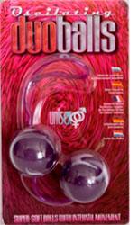 Фиолетовые вагинальные шарики Duo Balls