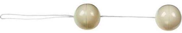 Пластиковые вагинальные шарики белого цвета Duoballs