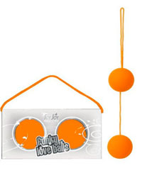 Вагинальные шарики Funky Orange со смещенным центром тяжести
