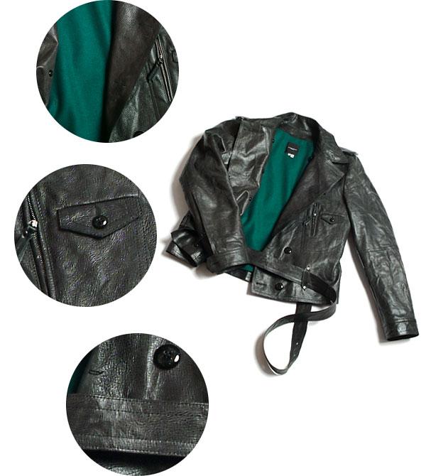 цвета и кожанной узкой курткой, лучше с молнией, вшитой по диагонали.
