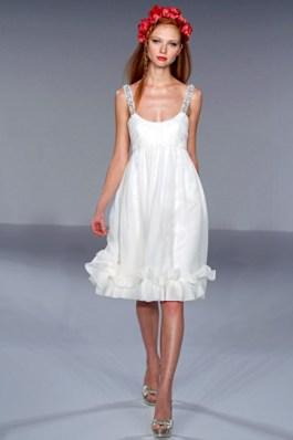 Длина короткого подвенечного платья