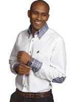 Мужская рубашка, Culture.  Модная посадка с высоким воротником, с...