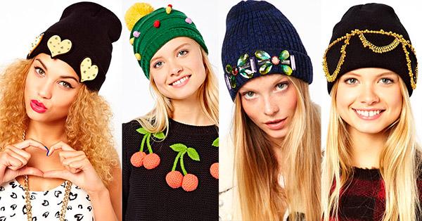 Модные головные уборы зимы-2014: вязаные шапки