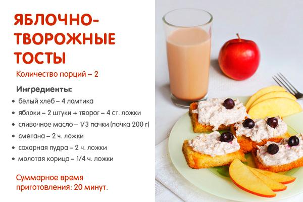Рецепты на завтрак для детей